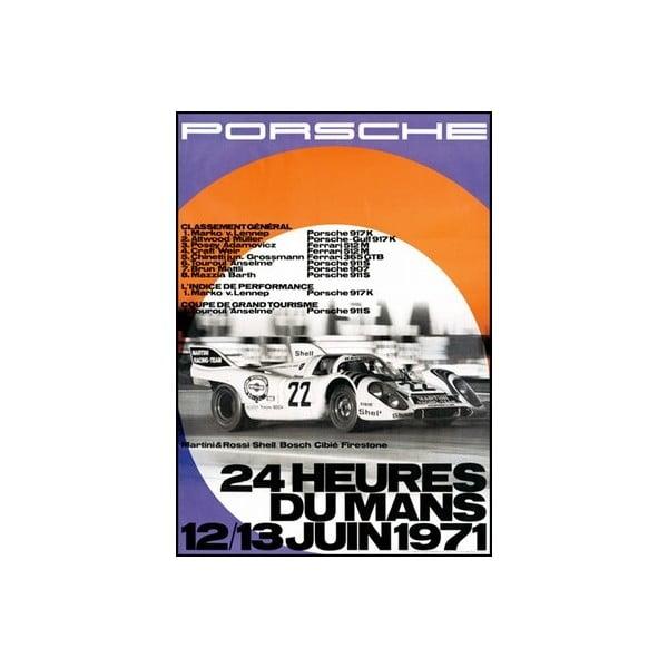 Plakát Porsche Le Mans 1971, 70x50 cm
