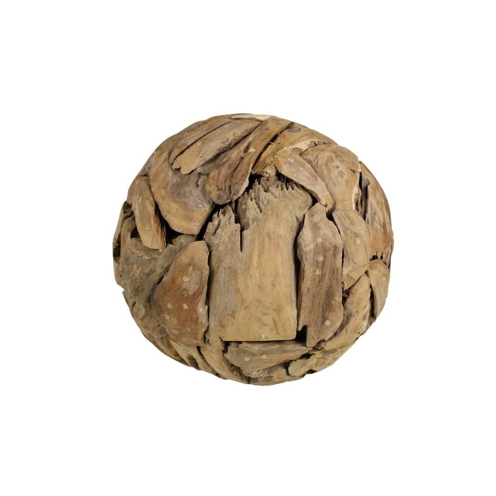 Dekorace z teakového dřeva HSM Collection Biag, Ø 40 cm