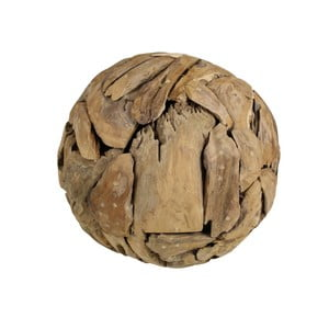 Dekorace  z teakového dřeva HSM collection Biag, ⌀40cm