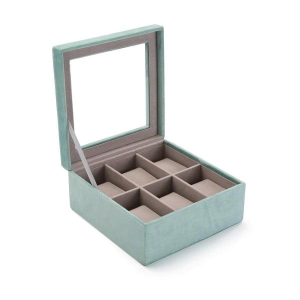 Cutie catifelată pentru ceasuri Versa Aquamarina, verde