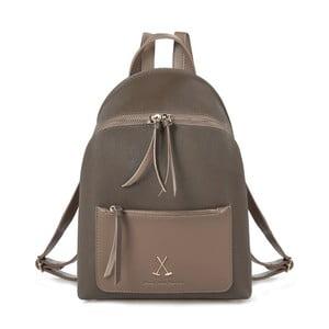 Šedohnědý batoh z eko kůže Beverly Hills Polo Club Fran