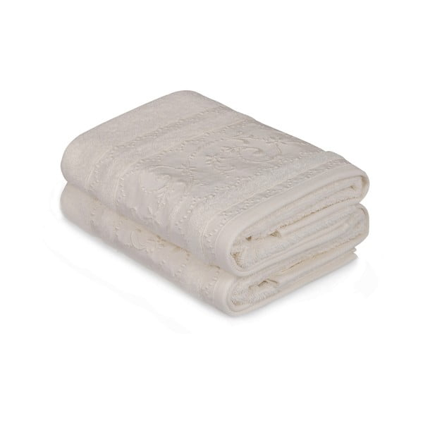 Sada 2 bílých ručníků Yosemine