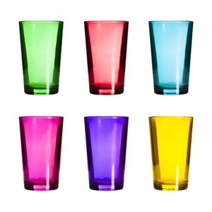Sada 6 barevných sklenic Yakamoz