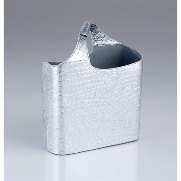 Stojan na časopisy Croco Argent, 45 cm