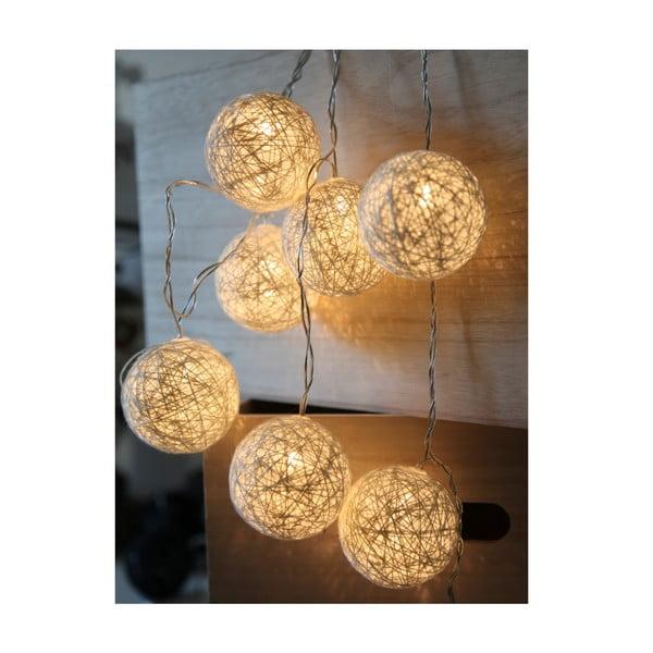 Bílý světelný LED řetěz Best Season Jolly Lights, 10 světýlek