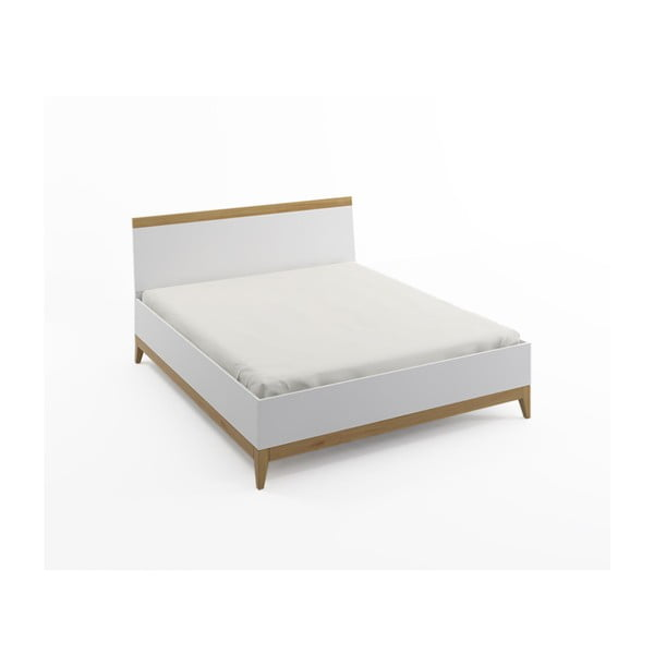 Dvoulůžková postel z masivního borovicového dřeva SKANDICA Livia BC, 160 x 200 cm