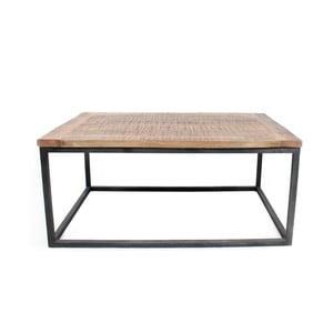 Černý konferenční stolek s deskou z mangového dřeva LABEL51 Box XL