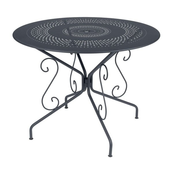 Antracitový kovový stůl Fermob Montmartre, Ø96cm