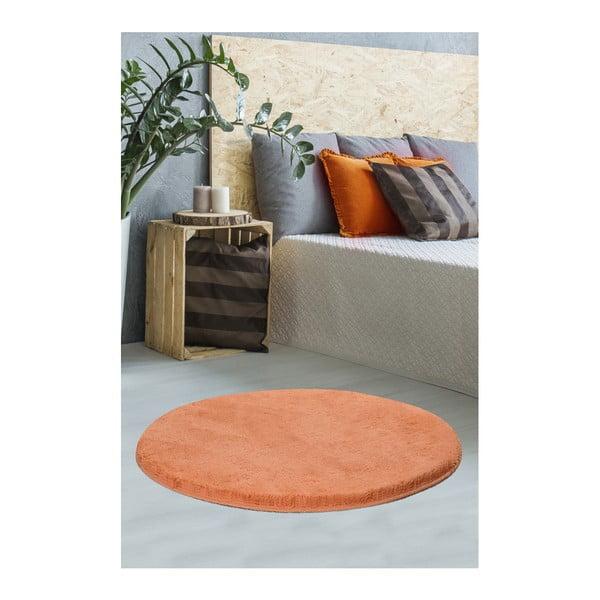 Oranžový koberec Milano, ⌀90cm