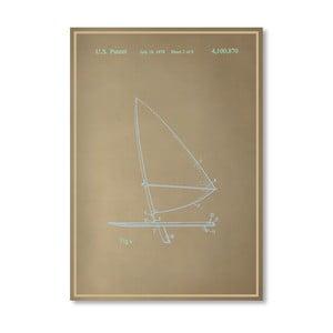 Plakát Wind Surfboard II, 30x42 cm