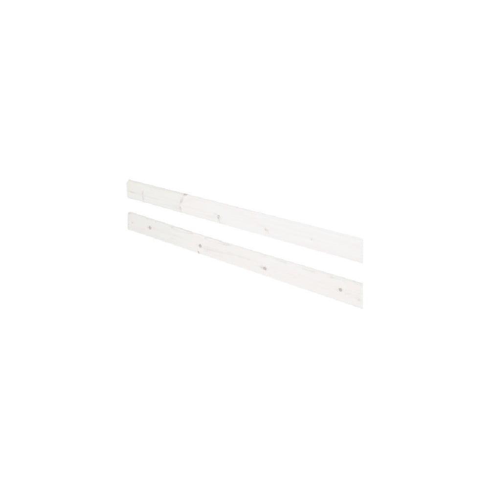 Produktové foto Bílá bezpečnostní zábrana z borovicového dřeva k posteli Flexa Classic, délka197cm