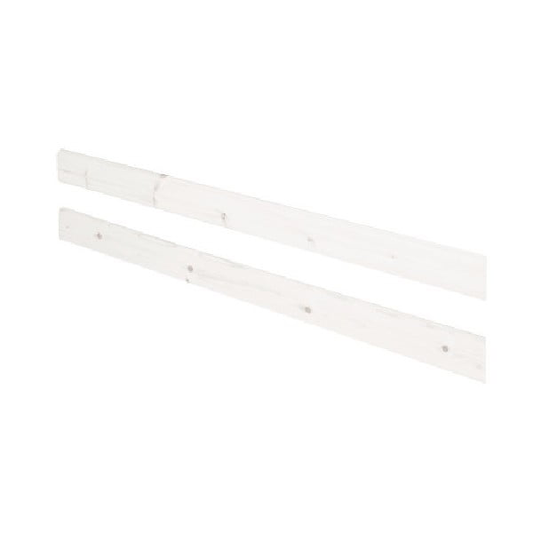 Bílá bezpečnostní zábrana z borovicového dřeva k posteli Flexa Classic, délka197cm