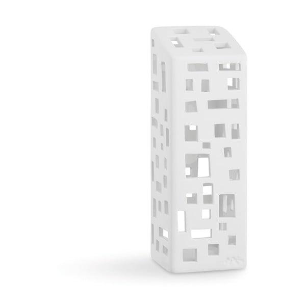 Urbania Lighthouse High Building fehér kerámia gyertyatartó - Kähler Design