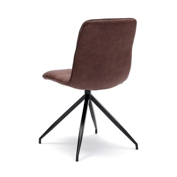 Sada 2 hnědých židlí Design Twist Galena