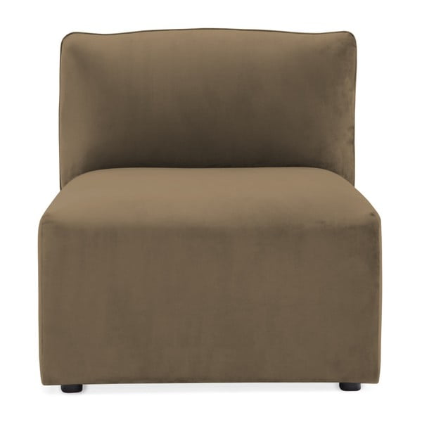 Modul de mijloc pentru canapea Vivonita Velvet Cube, maro - gri