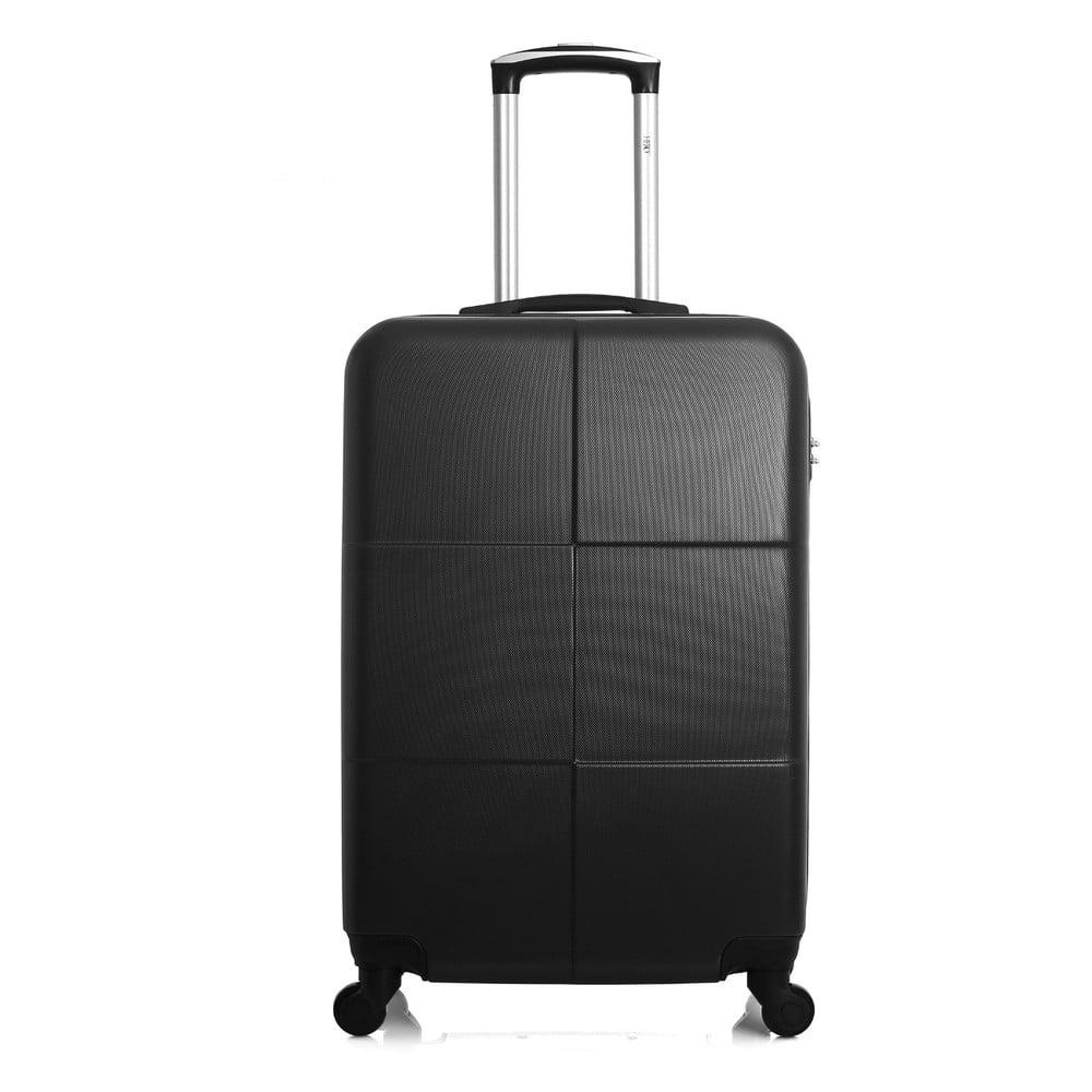 Černý cestovní kufr na kolečkách Hero Coronado, 61 l