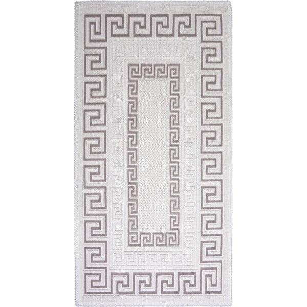 Sivo-béžový bavlnený koberec Vitaus Versace, 80×200cm