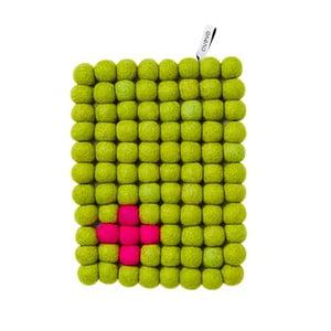 Vlněná podložka Trivet Lime/Cross, 22x17 cm