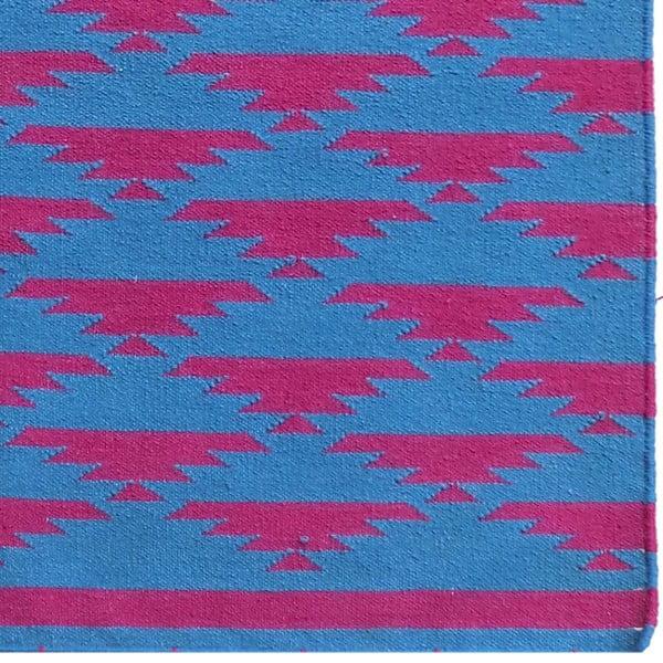 Vlněný koberec Kilim No. 40 Blue/Red, 120x180 cm