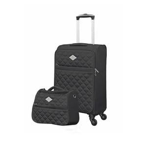 Sada černého kufru atoaletní tašky GERARD PASQUIER , 38 l + 16 l