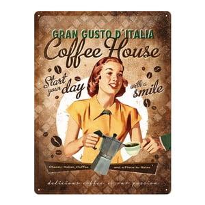 Retro plechová cedule Coffee House, 30x40 cm