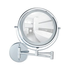 Nástěnné zvětšovací zrcadlo s LED osvětlením Wenko Power-Loc Lumi