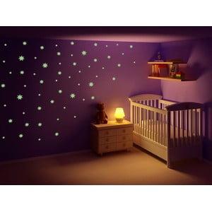 Svítící samolepka Hvězdy, 60x30 cm