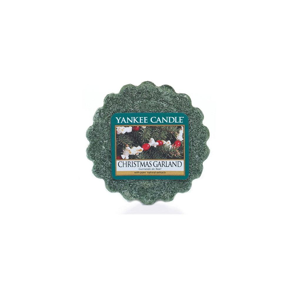 Vonný vosk do aromalampy Yankee Candle Vánoční Věnec,, doba trvání vůně až 8 hodin