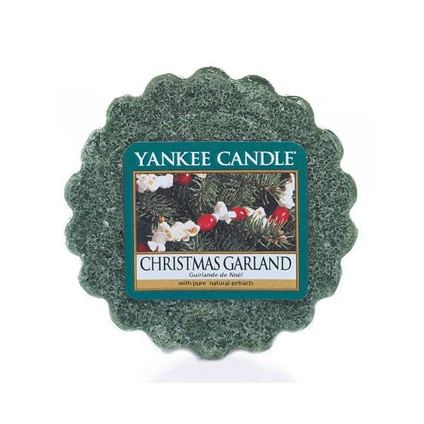 Wosk do lampy aromatycznej Yankee Candle Świąteczny Wieniec, czas trwania zapachu do 8 godzin