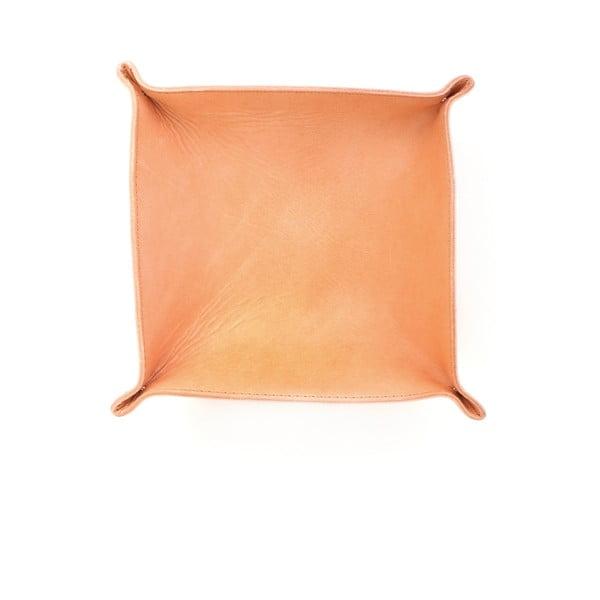 Medově hnědý kožený košík Casa Di Bassi