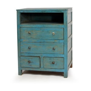 Dřevěná komoda Goa, modrá