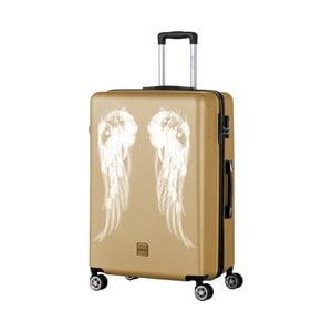 Troler cu roți Berenice Wings, 107 l, auriu