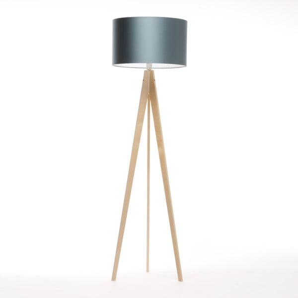 Modrá stojací lampa 4room Artista, přídodní bříza, 150 cm