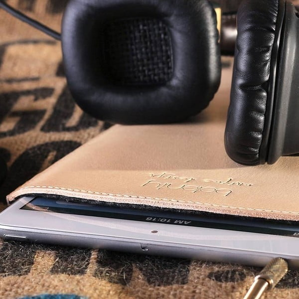 Kožený obal na iPad mini Cream