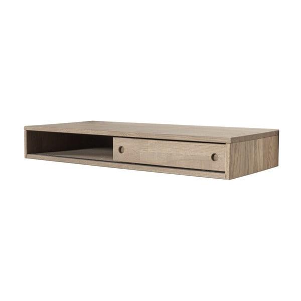 Pracovní stůl z dubového dřeva se zásuvkou k nástěnné sestavě De Eekhoorn Gyan