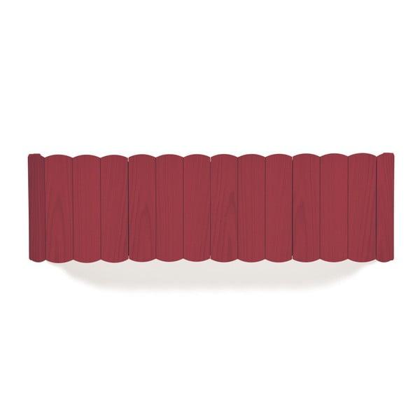 Raft de perete din lemn de fag HARTÔ, lungime 124 cm, roșu
