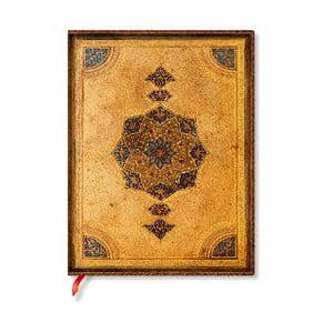 Nelinkovaný zápisník s měkkou vazbou Paperblanks Safavid, 18x23cm