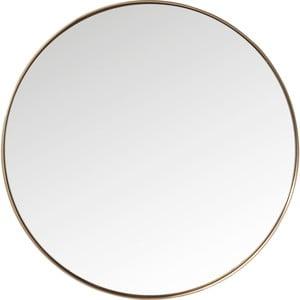 Oglindă rotundă cu ramă arămie Kare Design Round Curve, ⌀ 100 cm