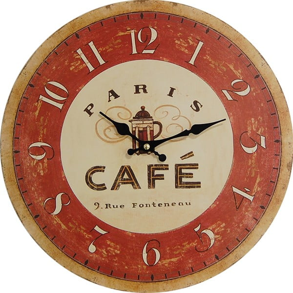 Hodiny Cafe Paris, 34 cm