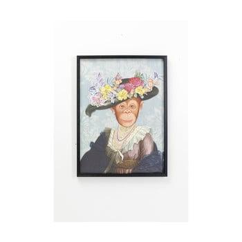 Tablou cu ramă Kare Design Monkey Lady, 80x60cm