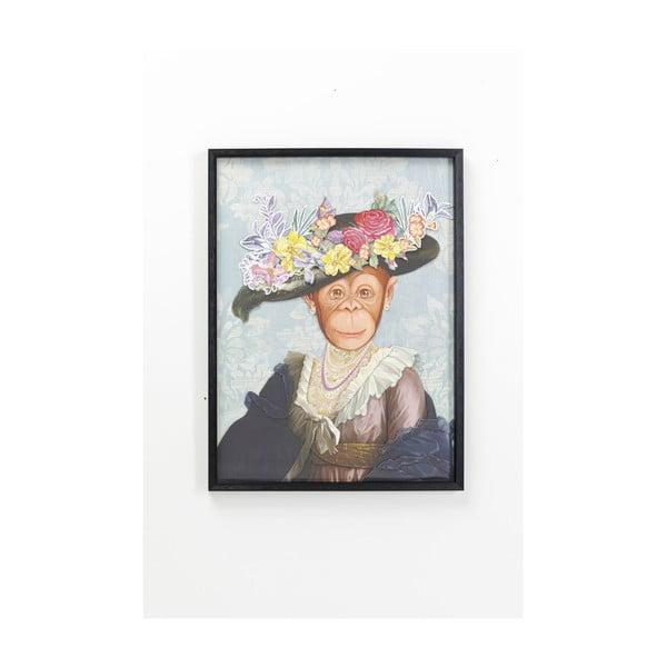 Obraz v ráme Kare Design Monkey Lady, 80 x 60 cm