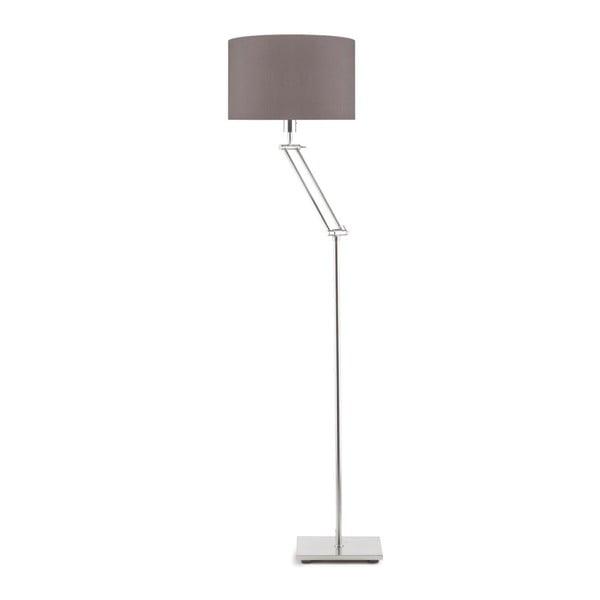Šedá volně stojící lampa se šedým stínidlem Citylights Dublin