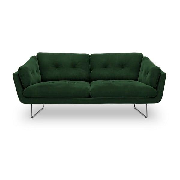Fľaškovozelená trojmiestna pohovka so zamatovým poťahom Windsor & Co Sofas Gravity