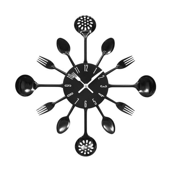 Nástěnné hodiny Black Cutlery, 43 cm