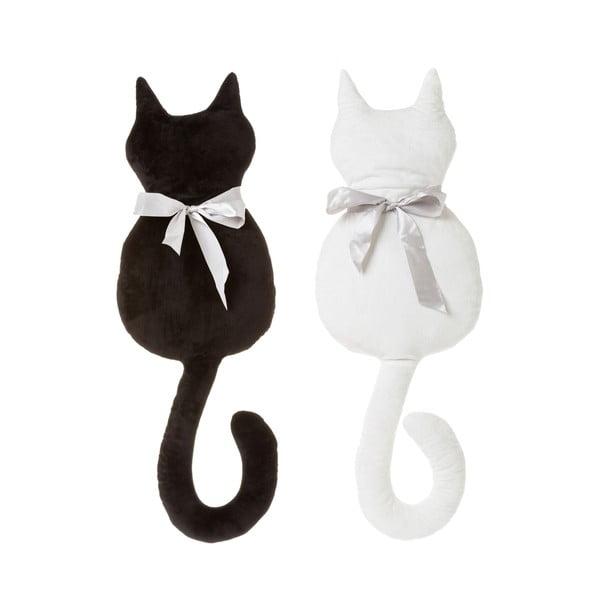 Sada 2 polštářků ve tvaru kočky Unimasa,50x27cm