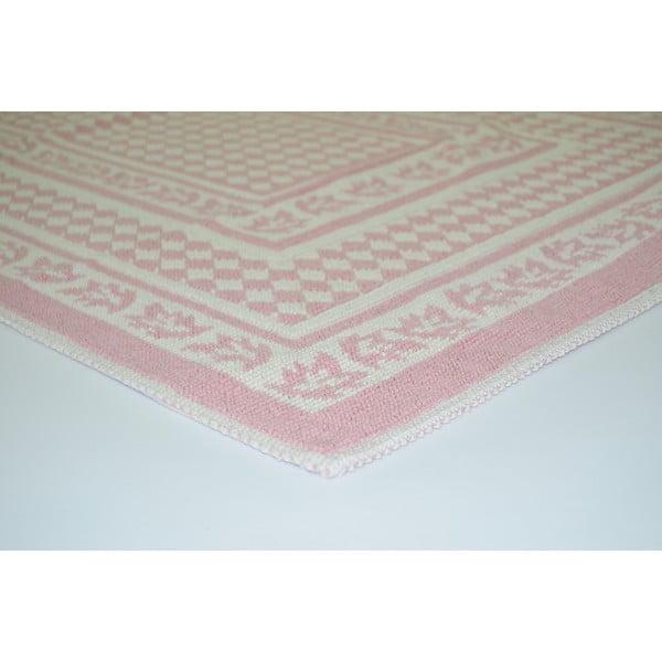 Pudrově růžový odolný koberec Vitaus Olivia, 100x150cm