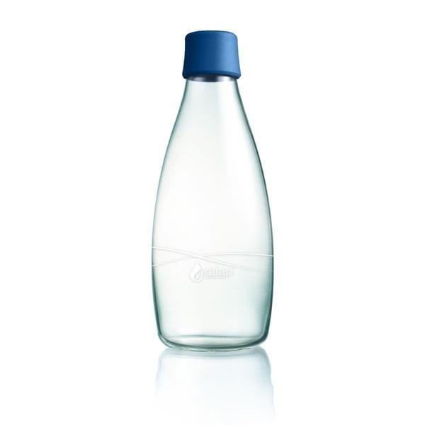 Tmavomodrá sklenená fľaša ReTap s doživotnou zárukou, 800 ml