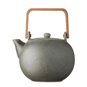 Ceainic din gresie ceramică Bitz Basics, 1,2 l, gri