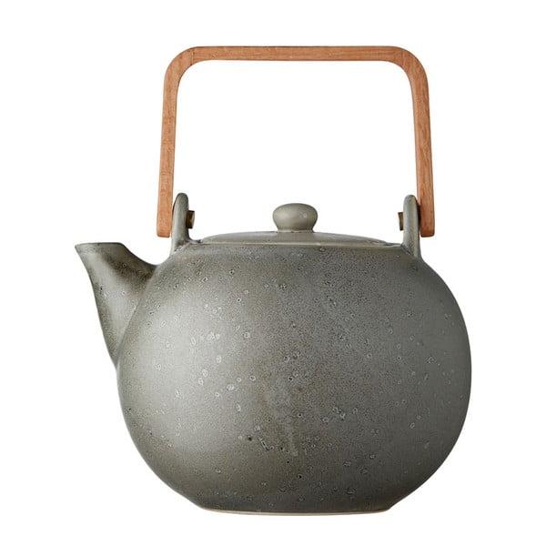 Sivá kameninová kanvička na čaj Bitz Basics, 1,2 l