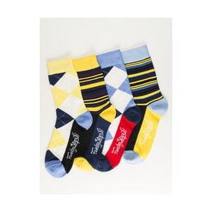 Sada 4 párů unisex ponožek Funky Steps Moneta, velikost39/45